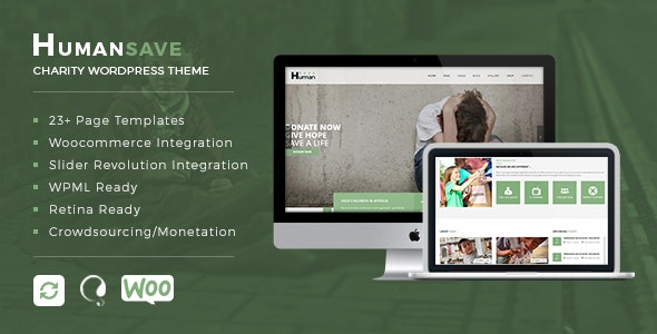 Humansave - Responsive Nonprofit Charity WordPress Theme - 19350481