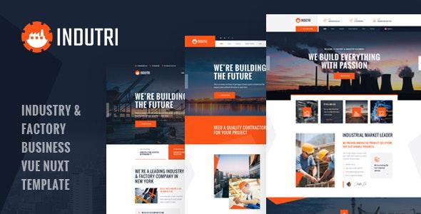Indutri – Vue Nuxt Industry & Factory Business Template – 29324610 Free Download