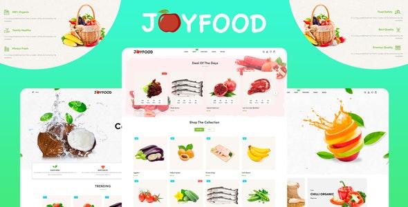 JoyFood - Grocery, Supermarket Organic Food Fruit Vegetables eCommerce Shopify Theme - 26967417