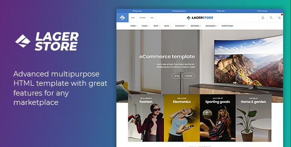 Lager – eCommerce HTML Template – 22051258 Free Download