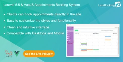 LaraBooking – Laravel Appointments Booking System – 21052512