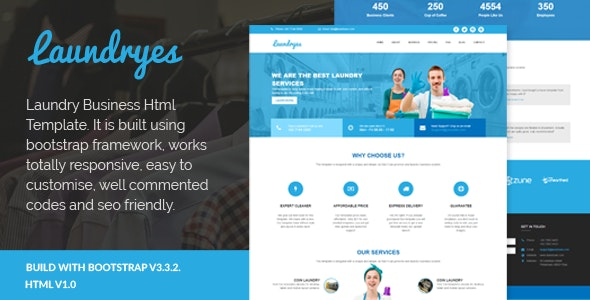 Laundryes - Laundry Business Html Template - 12905912