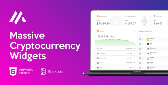 Massive Cryptocurrency Widgets – PHP/HTML Edition – 23098271 Free Download