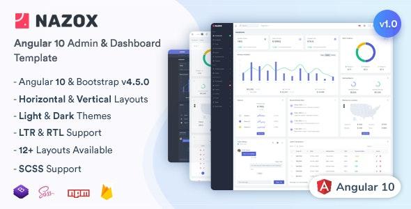 Nazox - Angular 10 Admin & Dashboard Template - 28441799