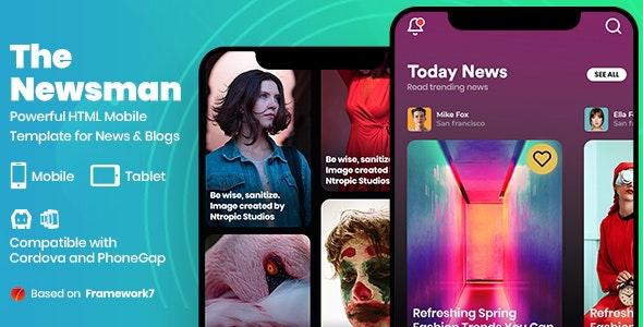 Newsman – News & Magazine Mobile Template – 27032418 Free Download