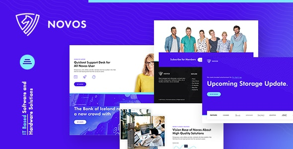 Novos | IT Company & Digital Solutions WordPress Theme – 25394637 Free Download