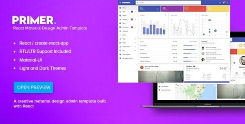 Primer – React Material Design Admin Template – 22196270