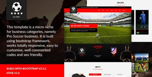 Pro Soccer – Football Club Template – 14064275