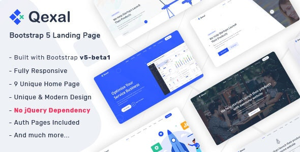 Qexal – Bootstrap 5 Landing Page Template – 28886371 Free Download