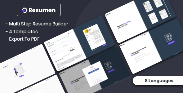 Resumen – MultiStep Resume Builder – 28990151 Free Download
