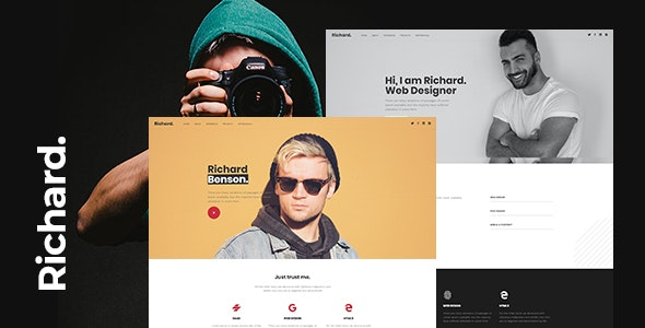 Richard - Onepage Personal WordPress Theme - 26674171