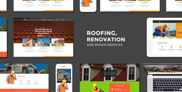 Roofing – Renovation & Repair Service WordPress Theme – 15762386 Free Download