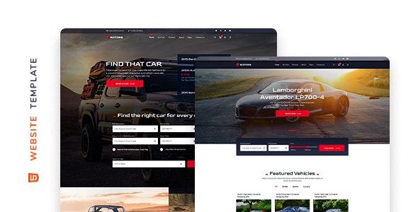 Rotors – Car Rental Website Template – 29744483 Free Download
