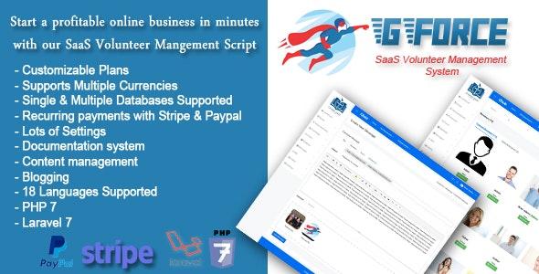 SaaS Volunter Management System - GForce - 24677160