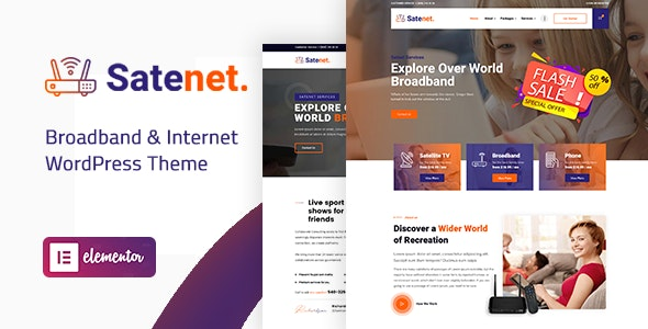 Satenet - Broadband & Internet WordPress Theme - 25909707
