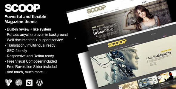 Scoop – A Magazine Theme For WordPress – 18281386 Free Download