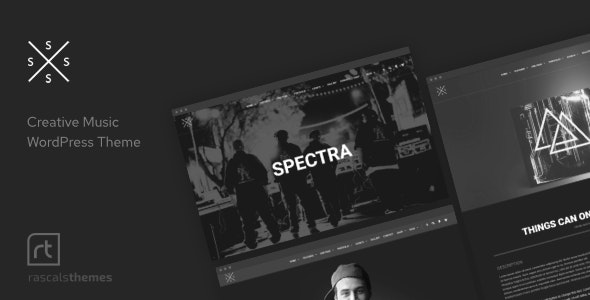 Spectra - Music Theme for WordPress - 10141585