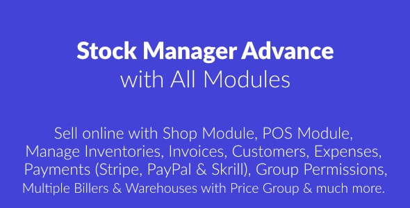 Stock Manager Advance with All Modules - 23045302