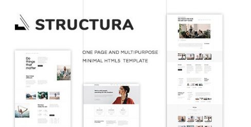Structura – Minimal One Page Template – 22350778
