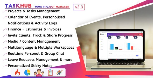 Taskhub – Project Management, Finance, CRM Tool – 25685874 Free Download