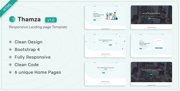 Thamza – Responsive Landing Page Template – 29592409 Free Download