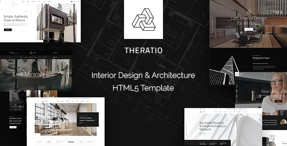 Theratio - Interior Design & Architecture HTML5 Template - 29953734
