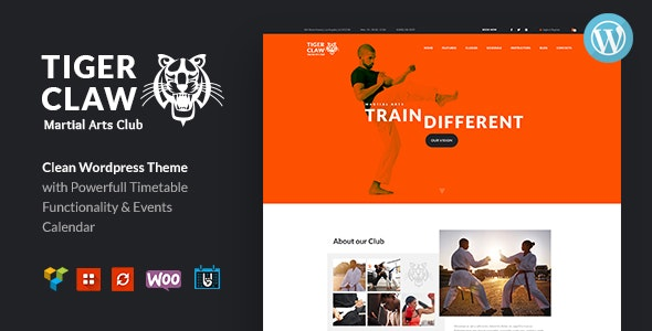 Tiger Claw - Martial Arts School and Fitness Center WordPress Theme - 20371073