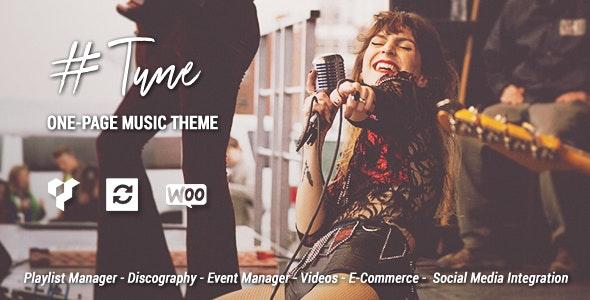 Tune – One-Page Music WordPress Theme – 20244376 Free Download