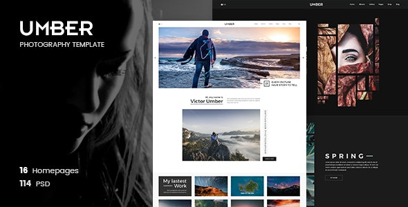Umber - Photography PSD Template - 21333905