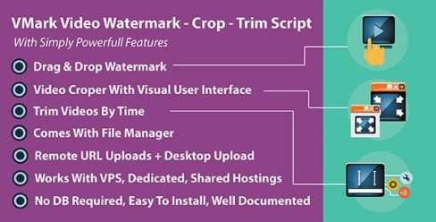 VMark Video Watermark – Crop – Trim PHP Script – 20995568
