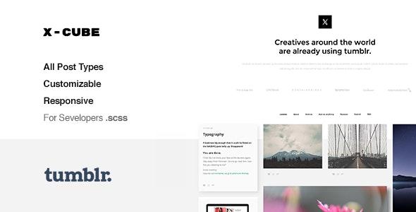 X-Cube Portfolio, Grid-Based Tumblr Theme - 12203824