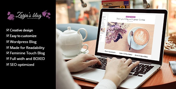 Zarja – Feminine WordPress Blog Theme – 10259094 Free Download