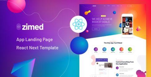 Zimed – React Next App Landing Page Template – 26207587