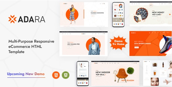 Adara – Modern & Multipurpose eCommerce Template – 30570128 Free Download