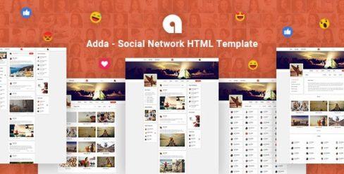 Adda – Social Network HTML Template – 25498684