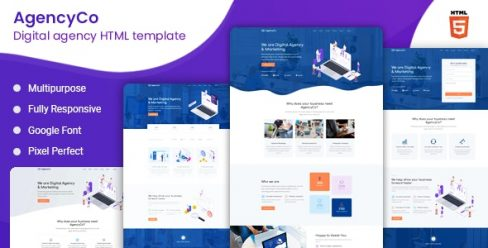 AgencyCo – Digital Agency and Marketing Template – 24857372