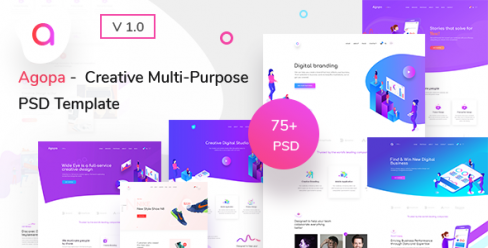 Agopa – Creative Multipurpose PSD Template – 23473928