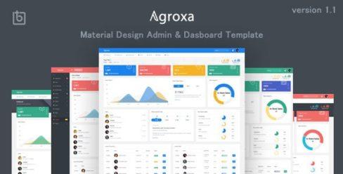 Agroxa – Material Design Admin & Dashboard Template – 22707790