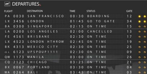 Airport Departure Board – 121766
