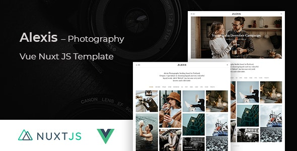 Alexis – Photography Vue Nuxt JS Template – 31755308 Free Download
