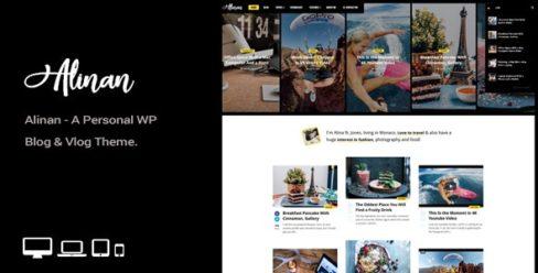 Alinan WP – A Personal WordPress Blog and Vlog Theme – 22313980