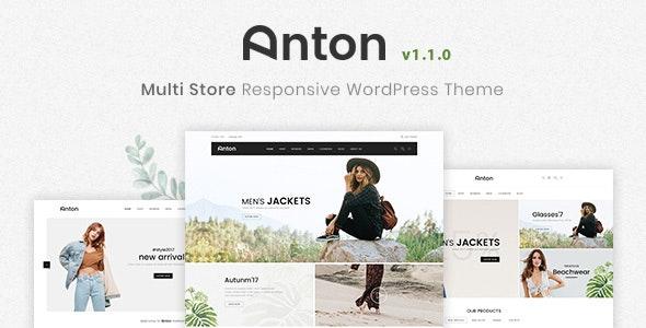 Anton – Multi Store Responsive WordPress Theme – 21357680 Free Download