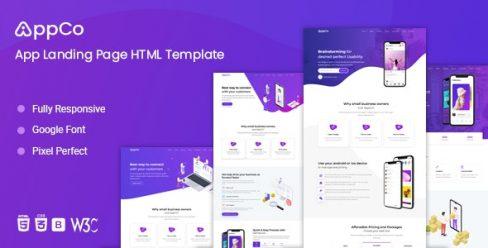 AppCo – App Landing Page Template – 24923158