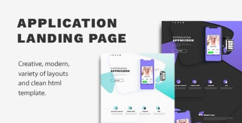 Appmicron – App & Product Landing page – 26168193