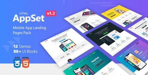 AppSet – App Landing Pages Pack – 22735113