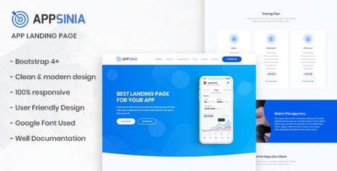 AppSinia – App Landing Page – 22760967