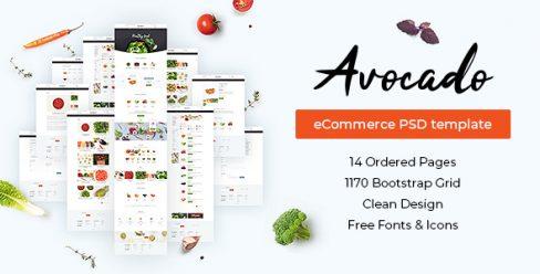 Avocado – eCommerce PSD Template – 22788090