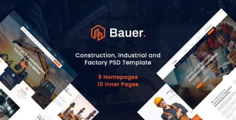 Bauer – Construction PSD Template – 23599754