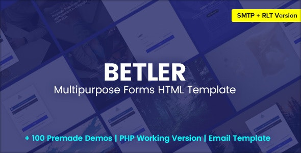 Betler – Multipurpose Forms HTML Template – 31614819 Free Download