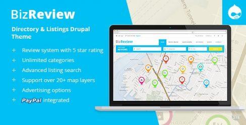 BizReview – Directory Listing Drupal 7 & 8 Theme – 8231637